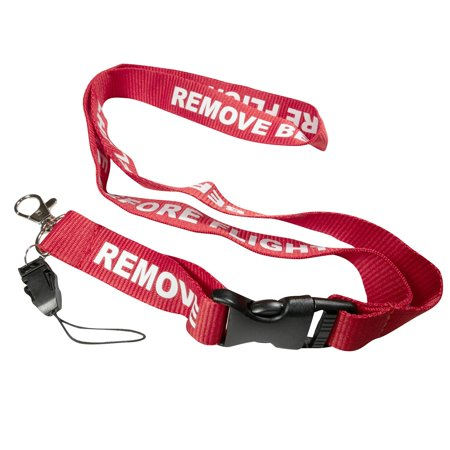 Remove Before Flight Red Buckle Lanyard