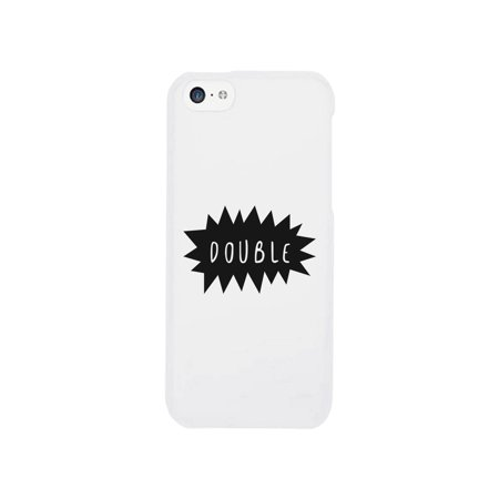Double Trouble-Left Cute Best Friend Matching White iPhone 5C
