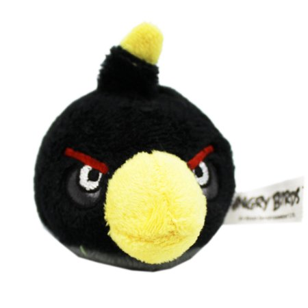 Angry Birds Bomb Mini Round Plush Toy With Bottom Finger Pocket - Angry Birds Halloween Plush Pig