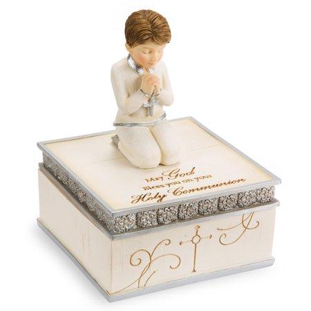 - Pavilion - Boy Catholic Communion Gift Keepsake Box 4 Inch