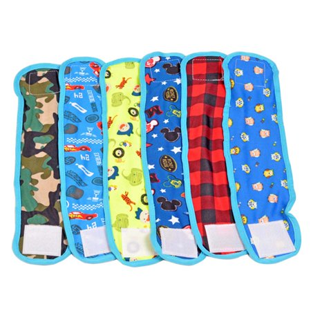 - 4Pcs Pet Diaper, Legendog Reusable Breathable Cotton Dog Belly Band Dog Wrap for Male Dogs