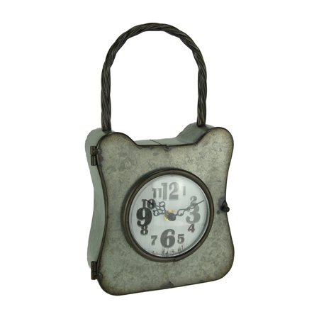 Galvanized Rust Finish Metal Lock Table or Wall Clock - image 3 de 3