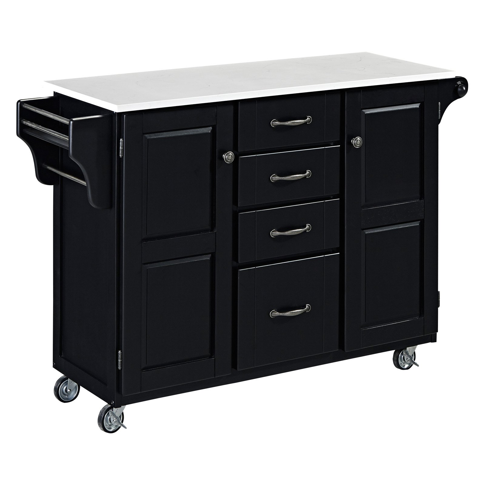 Home Styles Create-a-Cart in Satin Black Finish
