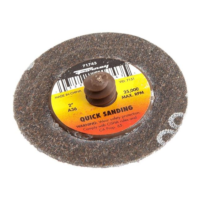 "2"" 36-Grit Quick Change Mini-Sanding Disc Forney Welding Accessories 71743"