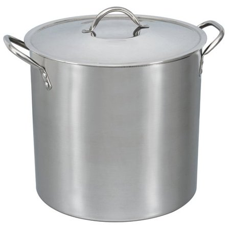Mainstays 16-Qt Stainless Steel Stock Pot with Metal Lid