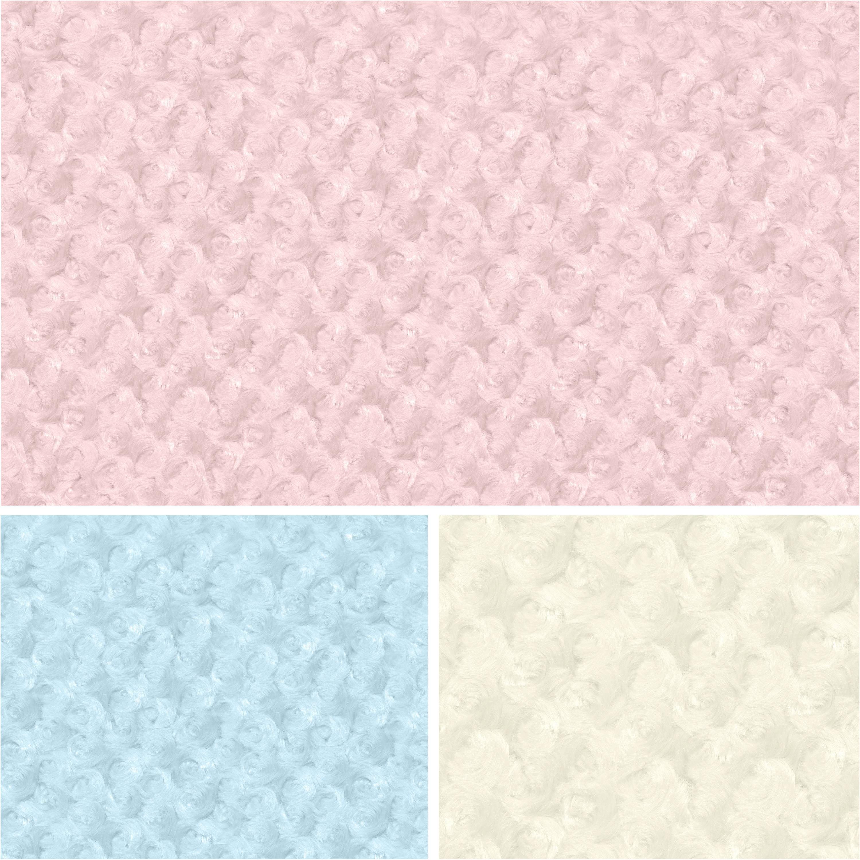 "David Textiles Plush 36"" x 60"" Baby-Soft Rosette Fabric, 1 Each"