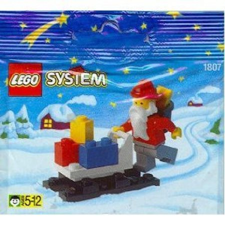 Lego Holiday Seasonal Mini Figure Set  1807 Santa Claus Sleigh