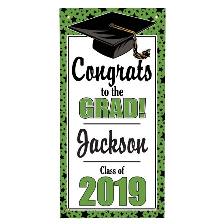 Personalized Graduation Door Hanging Banner](Personalized Banners For Graduation)