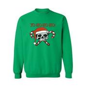 Ugly Christmas Sweatshirt Yo Ho Ho Ho Ugly Christmas Sweater Skull Sweater Santa Sweatshirt Yo Ho Ho Sweatshirt Ugly Christmas mens sweatshirt Ladies Christmas sweatshirts Holiday Sweater Xmas Gift