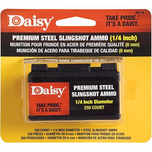 """Daisy 8114 1/4"""" Steel Slingshot BBs"""