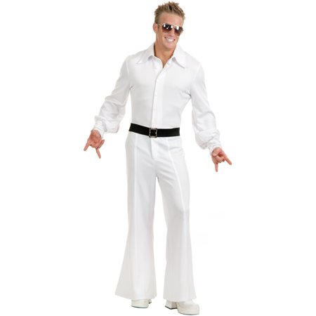 Adult Men's White Studio 54 Disco Jumpsuit Costume for $<!---->