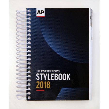 2018 AP Stylebook Spiral Bound Associated Press Media Law Style Book