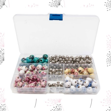 Making A Jewelry Box (100 PCs Porcelain Bead Assortment & 120 Filigree Silver Beads Container Kit with Elastic Cord - Jewelry Making Finding Supplies for)