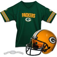 Green Bay Packers Franklin Sports Youth Helmet and Jersey Set - No Size