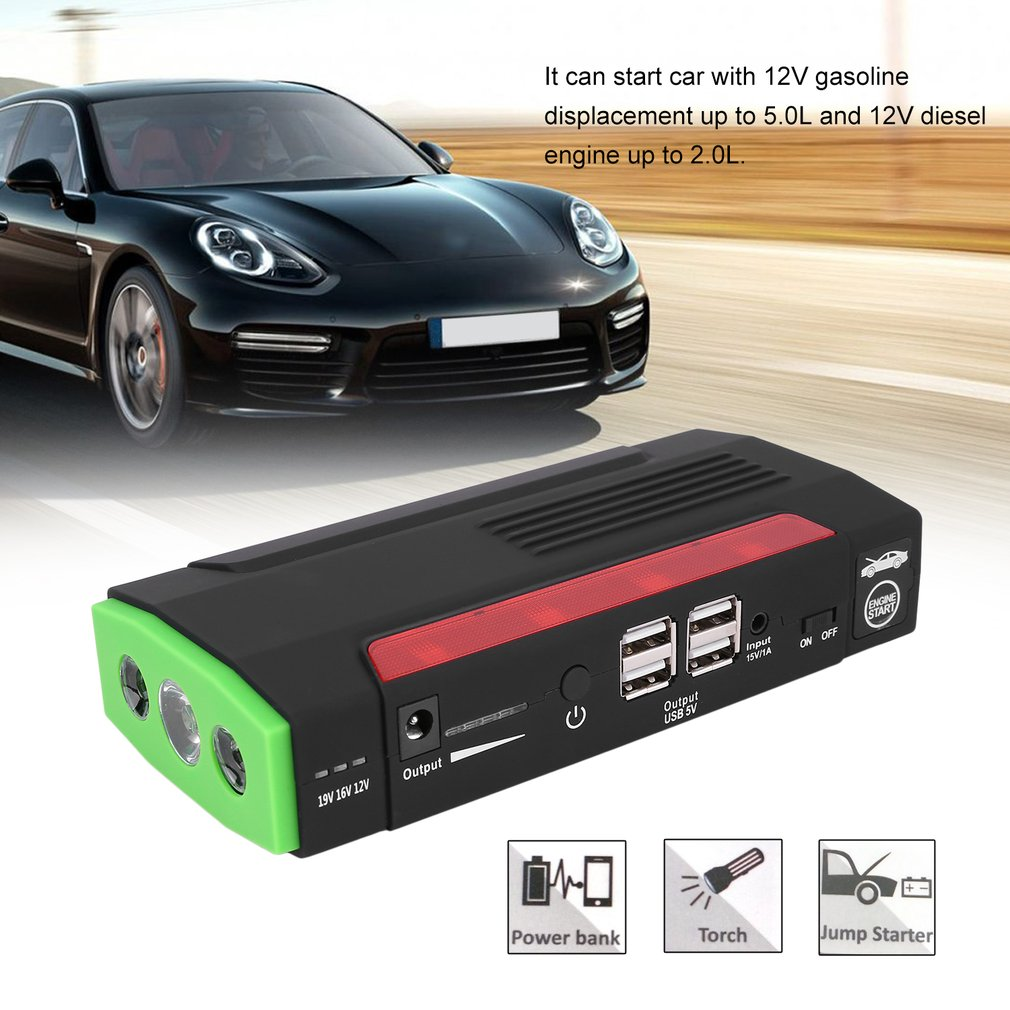 68800mAh 12V Car char ger Jump Starter Portable Power Booster Emergency Battery