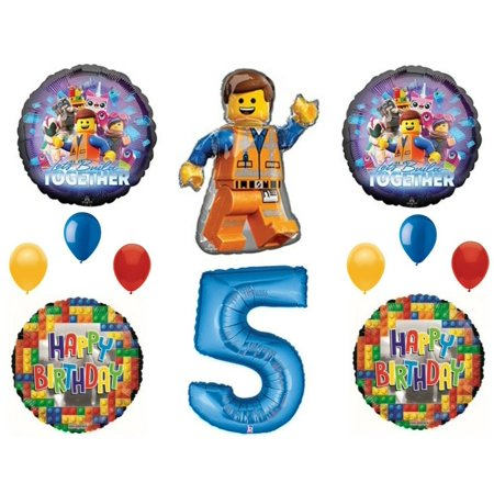 Lego 2 Movie 5th Birthday Party Balloons Decoration Supplies Fifth](Legos Party Supplies)