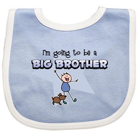Inktastic Stick Boy Future Big Brother Baby Bib To Be Puppy Dog Funny Cartoon Cute Sibling Pinkinkartkids New Gift Clothing