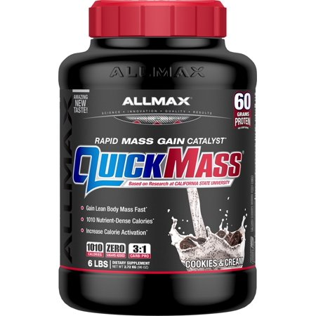 Image of AllMax Nutrition - QuickMass Loaded Cookies & Cream - 6 lbs.