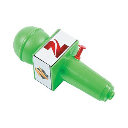 Fun Express - Microphone Squirt Guns - Toys - Active Play - Water Toys - 12 Pieces