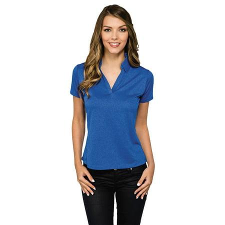 Tri Mountain Womens Self Fabric Johnny Collar Polo Shirt