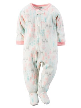 91a899277 Product Image Carters Baby Girls 1-Piece Fleece PJs Winter Scene