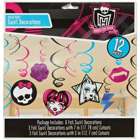 Monster High Hanging Decorations, Party Supplies