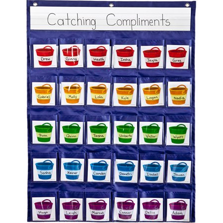- Carson-Dellosa Positive Reinforcement Pocket Chart 1 pocket chart, 30 cards