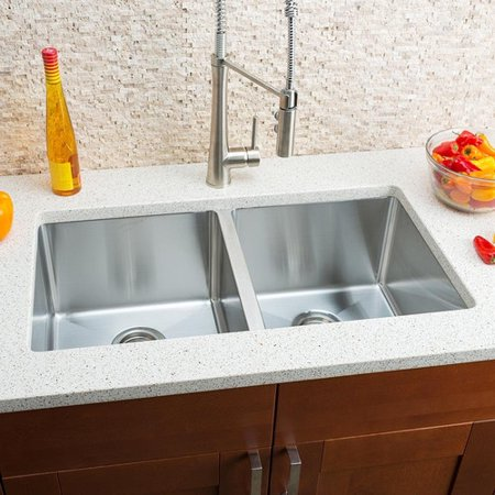 Hahn Chef Series 32'' L x 18'' W Double Bowl Undermount Kitchen Sink ()