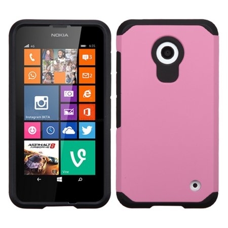 Hybrid Multi-Layer Armor Case for Nokia Lumia 630 / 635 - Pink ()