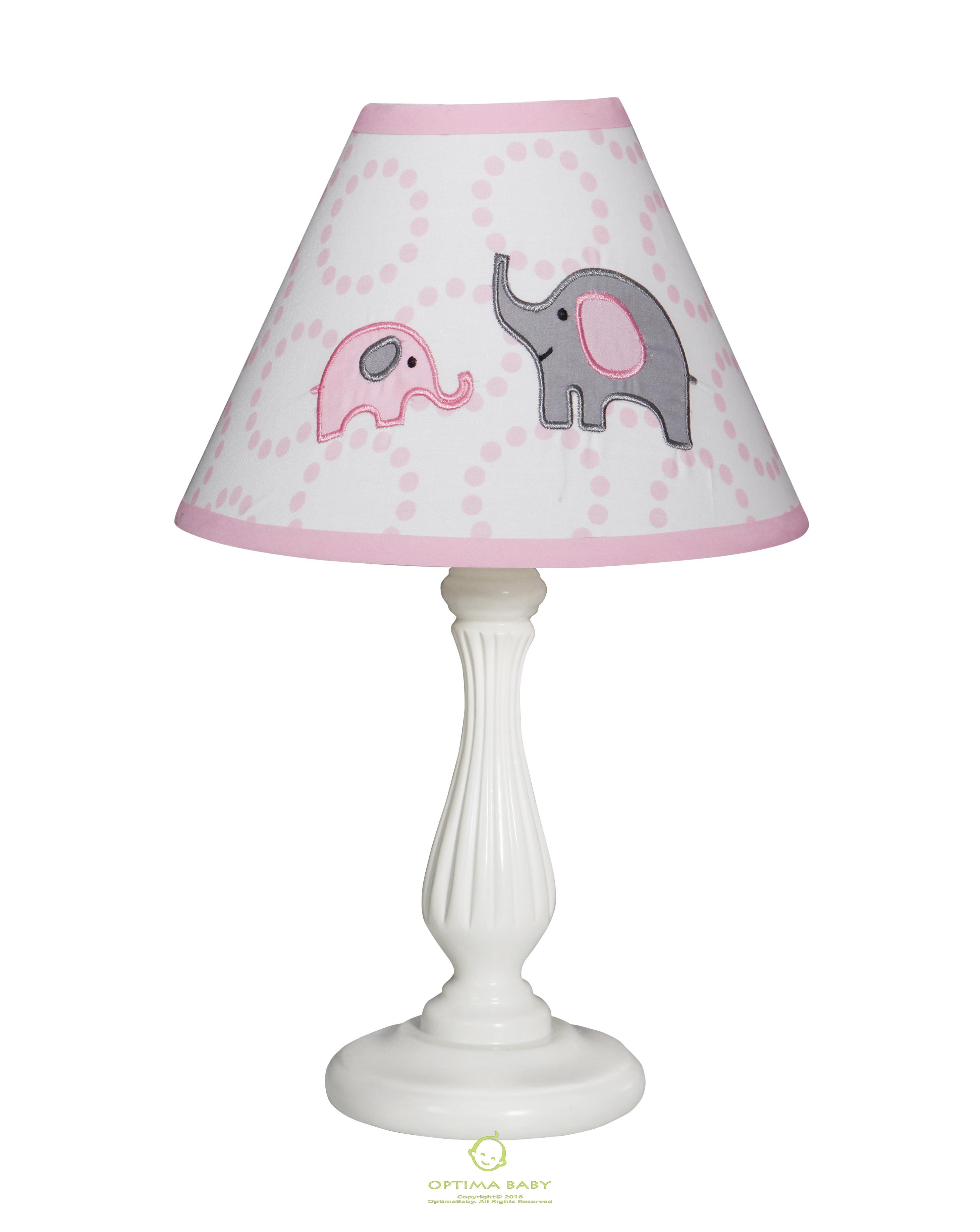 OptimaBaby Pink Grey Elephant Lamp Shade Without Base ...