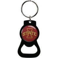 Iowa State Cyclones Bottle Opener Keychain - Black - No Size