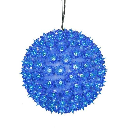 "10"" Blue Lighted Twinkling Starlight Sphere Christmas Decoration"