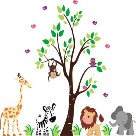 Baby Nursery Wall Decals Safari Jungle Children's Themed 83