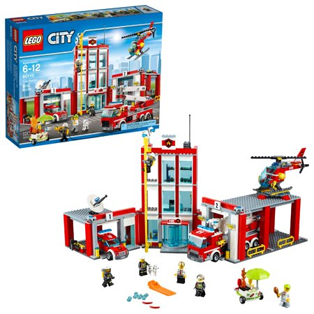 LEGO City Fire Station 60110 Building Set (919 Pieces)](Lego Party City)