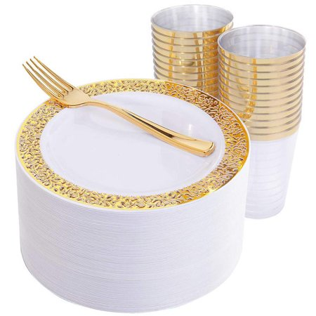 Durable Hollow Wedding Party Disposable Plate Tableware ...