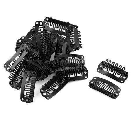 Hairdressing Clamp Hairclip Snap Wig Clip Feather Hair Extension Black 20pcs for $<!---->