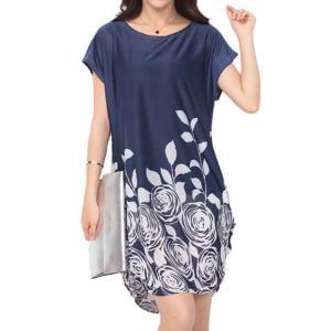 Plus Size Tribal Dress (KABOER Dress Womens Floral Print Summer Dress Plus)