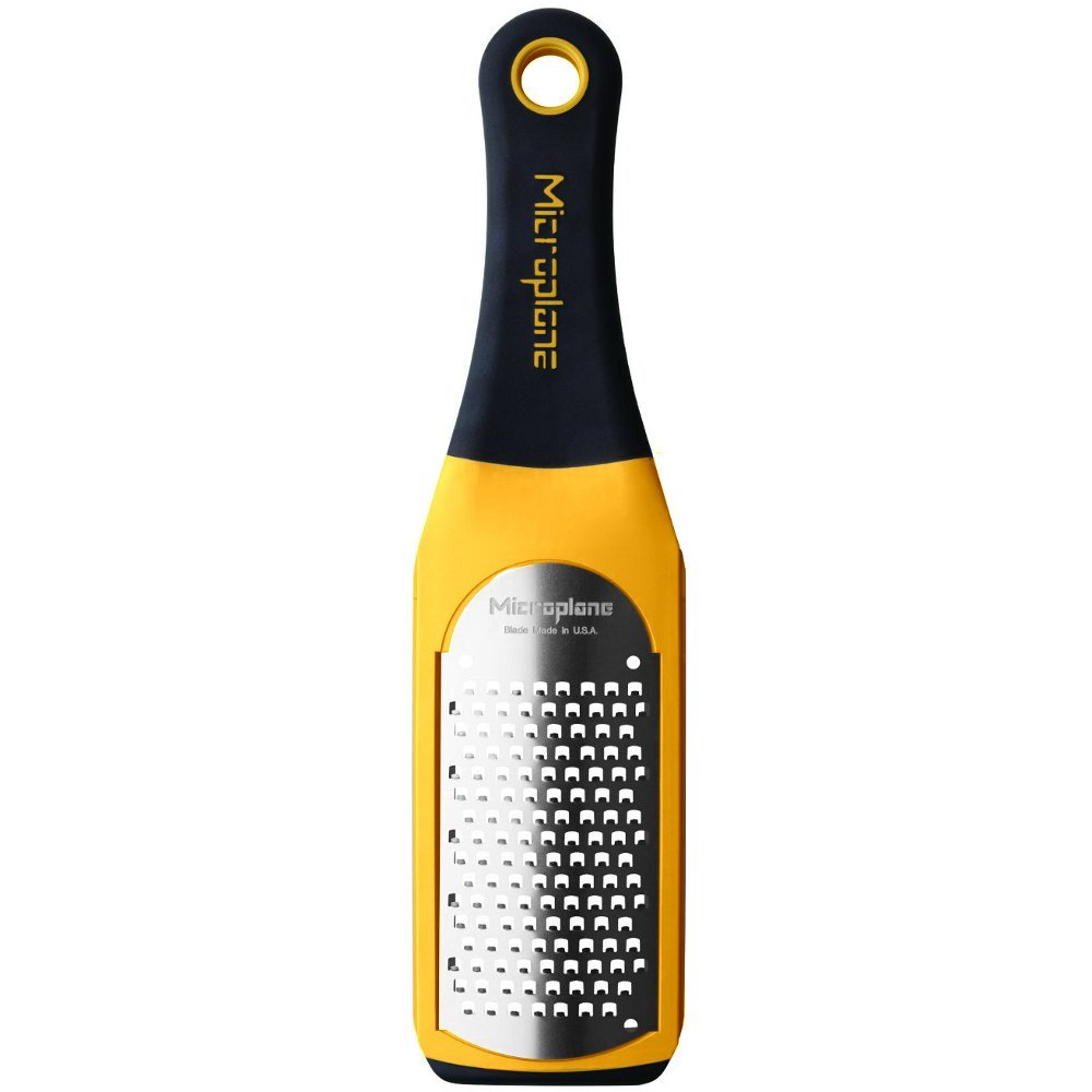 42601 Artisan Coarse Grater, Yellow, Coarse grater is ideal for hard cheeses, carrots and coconut By Microplane