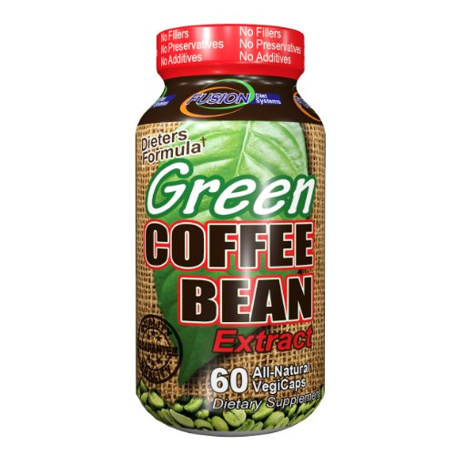 Fusion Diet Systems Green Coffee Bean Extract Vegetarian Capsules, Dieters Formula, 60 ea