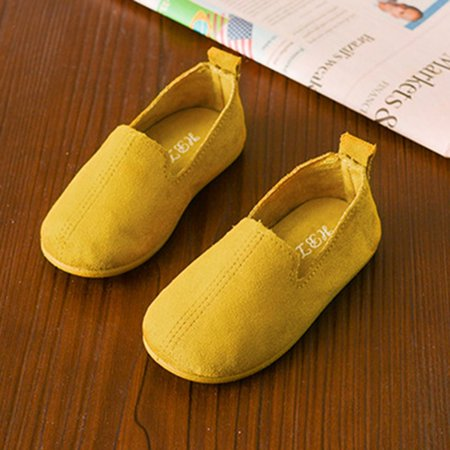 Solid Color Slip On Shoes Soft PU Flat Shoes with Anti-slip Rubber Sole Unisex - image 3 de 6