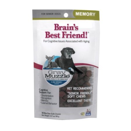 Ark Naturals Brain's Best Friend Grey Muzzle Senior Dry Treats 90 (Best Brain Supplements 2019)