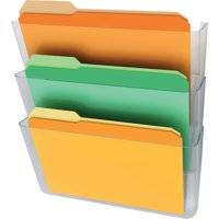 Deflecto, Stackable DocuPocket, 3 / Set, Clear