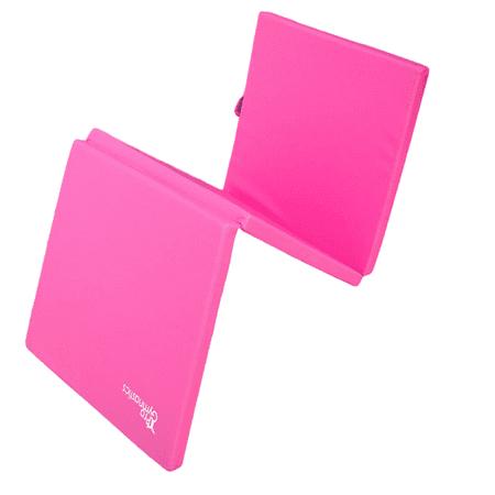 Aerobics Home Gym Protective Flooring Workout Mat Pink Pro-Gymnastics Exercise Mat 6/'x4/' Tri-Fold 2 Thick Folding Gymnastics Tumble Mat 2 Carrying Handles for Yoga Mixed Martial Arts