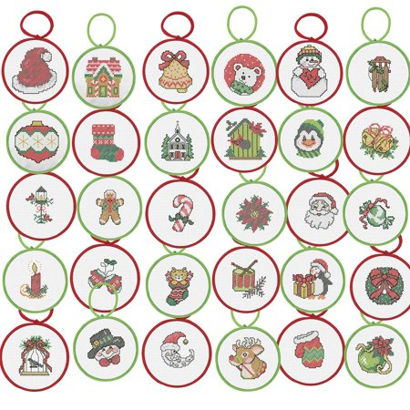 Herrschners® Season of Giving Ornaments Counted Cross-Stitch Kit - Cross Stitch Ornaments