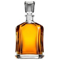 Capitol Glass Whiskey Decanter Airtight Geometric Stopper 23.75 oz