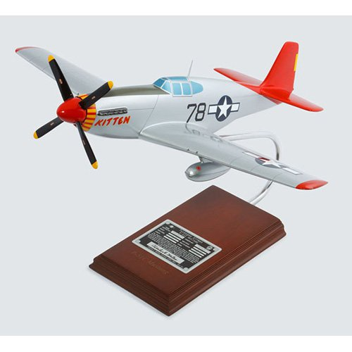 Daron Worldwide North American Aviation P-51C Tuskegee Kitten Model Airplane signed by Charles McGee