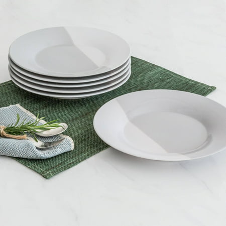 (Better Homes & Gardens Color Dipped Salad Plates, Grey, Set of 6)