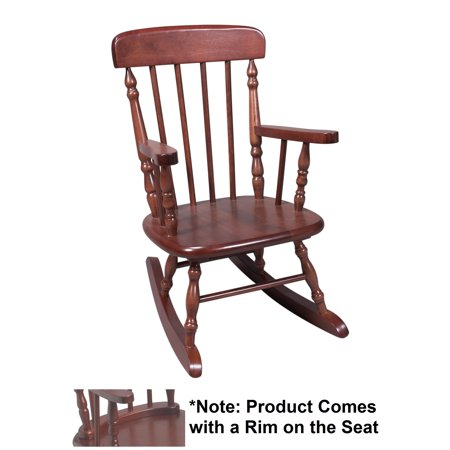 Gift Mark Deluxe Childrenâ€s Spindle Rocking Chair, Cherry ()