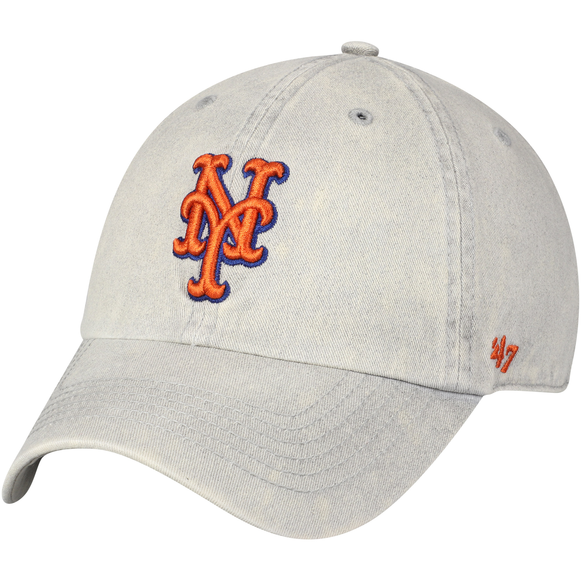 New York Mets '47 Cement Clean Up Adjustable Hat - Gray - OSFA