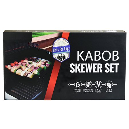 Cooking Gifts For Men Bbq Kabob Skewer Grill Accessories Set Rack Holds Meat